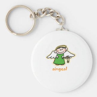 aingeal (little angel in Irish) Keychain