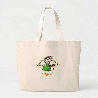 aingeal (little angel in Irish) Large Tote Bag