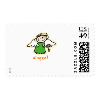 aingeal (little angel in Irish) Postage Stamps