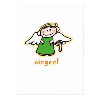 aingeal (little angel in Irish) Postcard