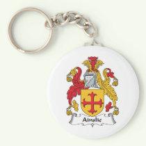 Ainslie Family Crest Keychain