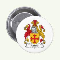 Ainslie Family Crest Button