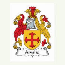 Ainslie Family Crest Postcard