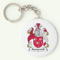 Ainsworth Family Crest Keychain