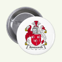 Ainsworth Family Crest Button