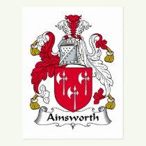 Ainsworth Family Crest Postcard