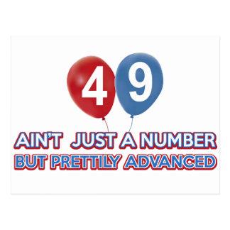 aint 49 apenas un número tarjetas postales