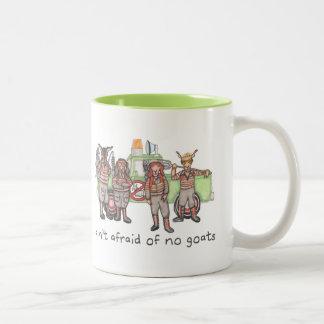 """Ain't Afraid of No Goats"" 2-tone mug"