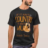 Ain't Country Ain't Music Men's Dark T-Shirt