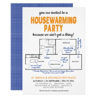 Ain't Got A Thing Funny Housewarming Party Invitation
