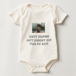 AIN'T GOT TIME FOR DIRTY DIAPERS ROMPER