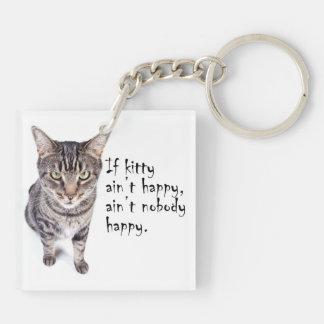 Ain't Happy Cat Keyring Acrylic Keychain