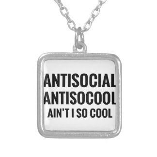 Ain't I So Cool Silver Plated Necklace