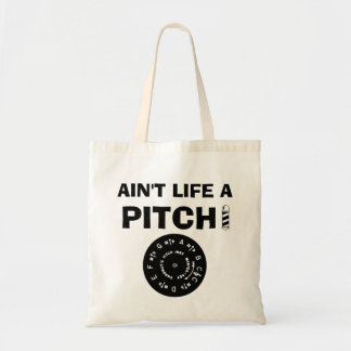 Ain't Life a Pitch Black Budget Tote Bag