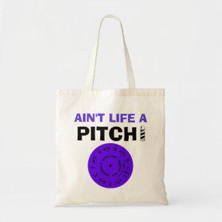 Ain't Life a Pitch Purple Budget Tote Bag