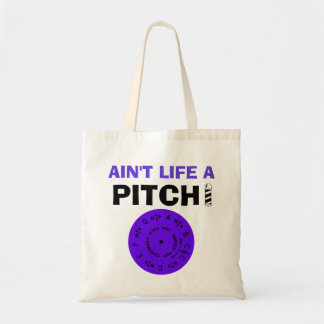 Ain't Life a Pitch Purple Tote Bag