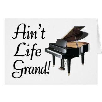Ain't Life Grand Piano Card