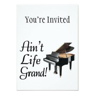 Ain't Life Grand Piano 5x7 Paper Invitation Card