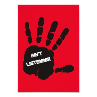 AIN'T LISTENING MOTTO STUBBORN GRAPHICS ATTITUDE CARD