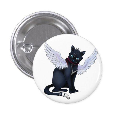 aint ninguna insignia del gato del ángel pin