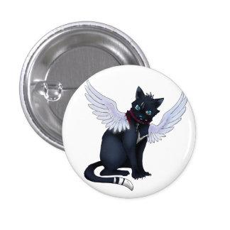 aint no angel cat badge pinback button