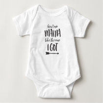 Ain't No Mama Onsie for Baby Baby Bodysuit