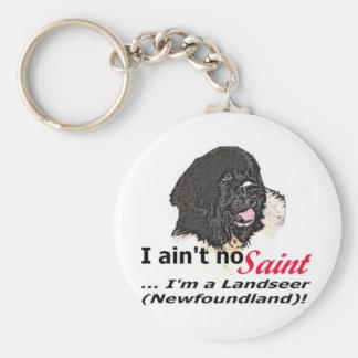 Aint No Saint Basic Round Button Keychain