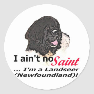 Aint No Saint Classic Round Sticker