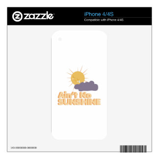 Ain't No Sunshine iPhone 4S Decals