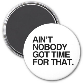 AIN'T NOBODY GOT TIME FOR THAT MAGNET