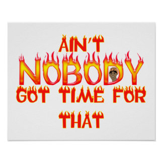 Ain't Nobody Got Time Sweet Brown Poster