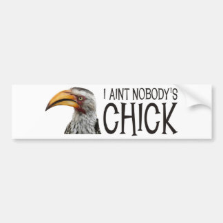 Aint Nobody's Chick - Funny, angry feminist bird Car Bumper Sticker