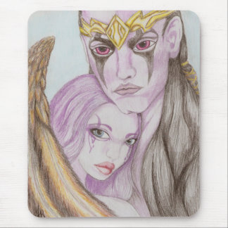 AION Asmodian Angel Fairy Couple Love Mouse Pad