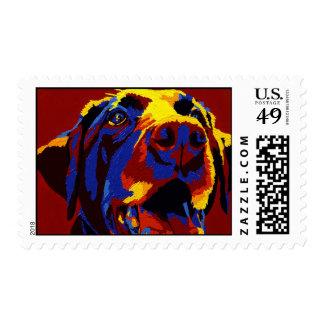 """AIP Labrador  Stamp - """"Lucky Dog"""""""
