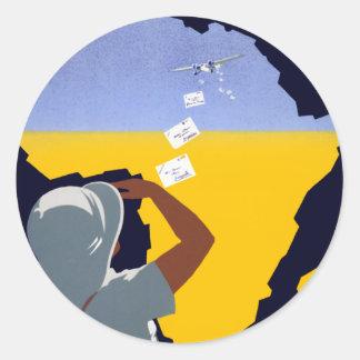 Air Afrique: L'Afrique Francaise Classic Round Sticker