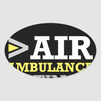 Air Ambulance and Medical Flight Company Ratings Oval Sticker