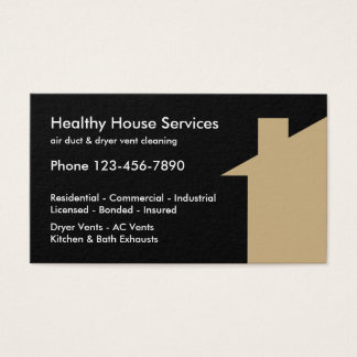 Air And Dryer Vent Cleaning Business Card