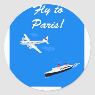 Air and ship Vintage Travel Classic Round Sticker