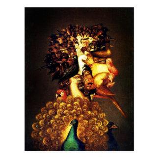 Air - Arcimboldo's bizarre head profile Postcard