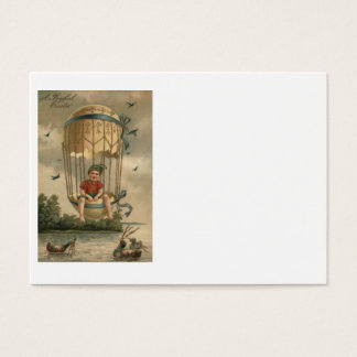 Air Balloon Easter Colored Painted Egg Duck Business Card