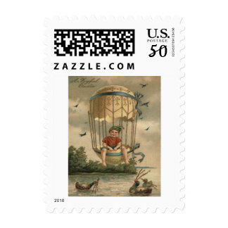Air Balloon Easter Colored Painted Egg Duck Postage