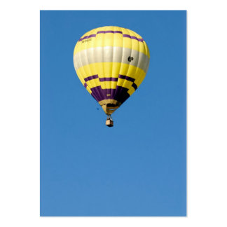 Air-balloon in blue sky large business card