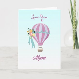 Air Balloon Mother's Day Card