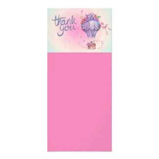AIR BALLOON THANK YOU SOFT NEUTRALS EXPRESSIONS MA RACK CARD