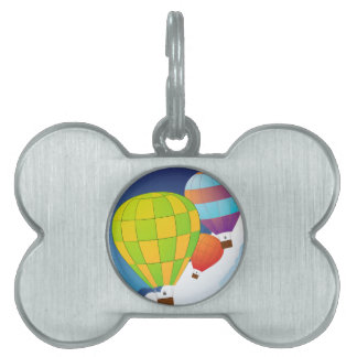 Air balloons in the sky pet name tag