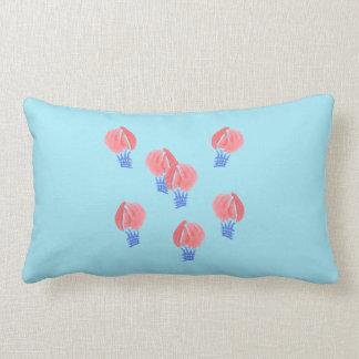 Air Balloons Polyester Throw Lumbar Pillow