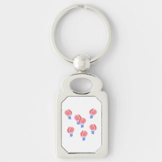 Air Balloons Rectangle Metal Keychain