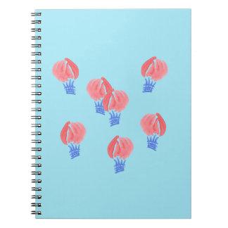 Air Balloons Spiral Notebook