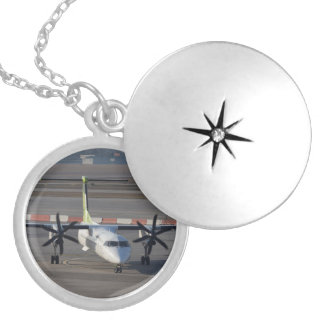Air Baltic Dash 8 Q400 Silver Plated Necklace