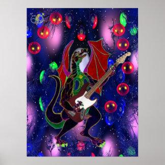 Air Bass Dragon. Poster